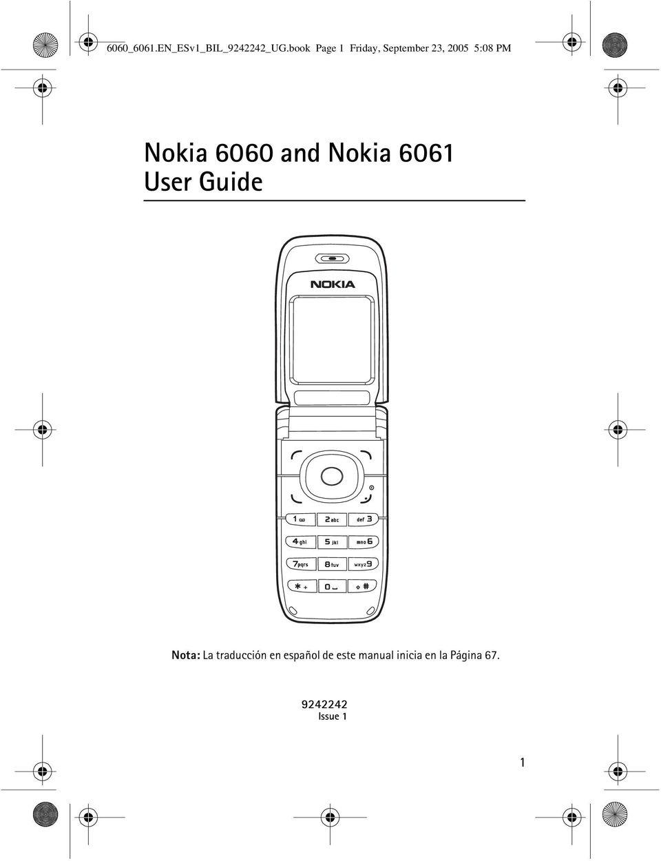 Nokia 6060 and Nokia 6061 User Guide Nota: La