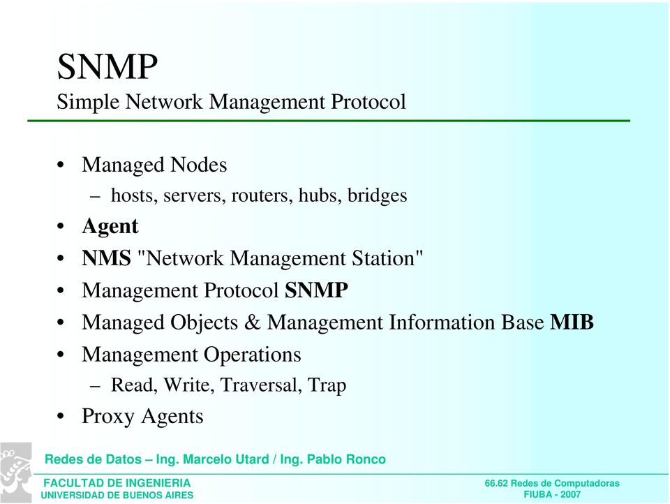 Management Protocol SNMP Managed Objects & Management Information