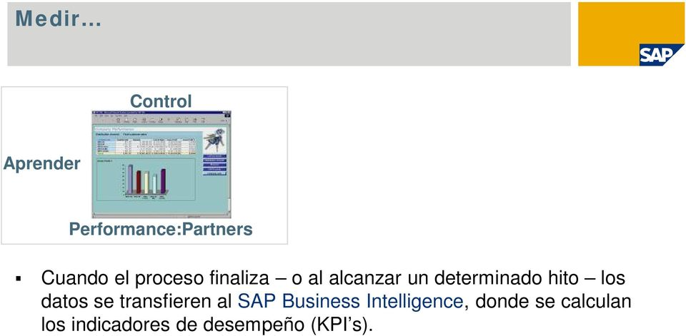 los datos se transfieren al SAP Business