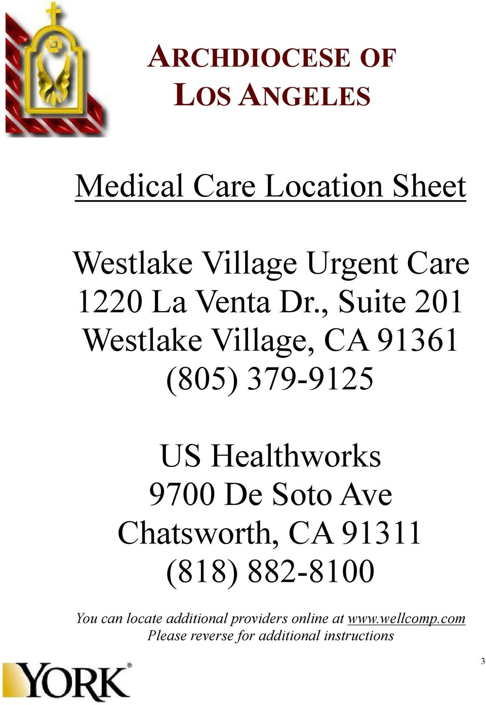 , Suite 201 Westlake Village, CA 91361