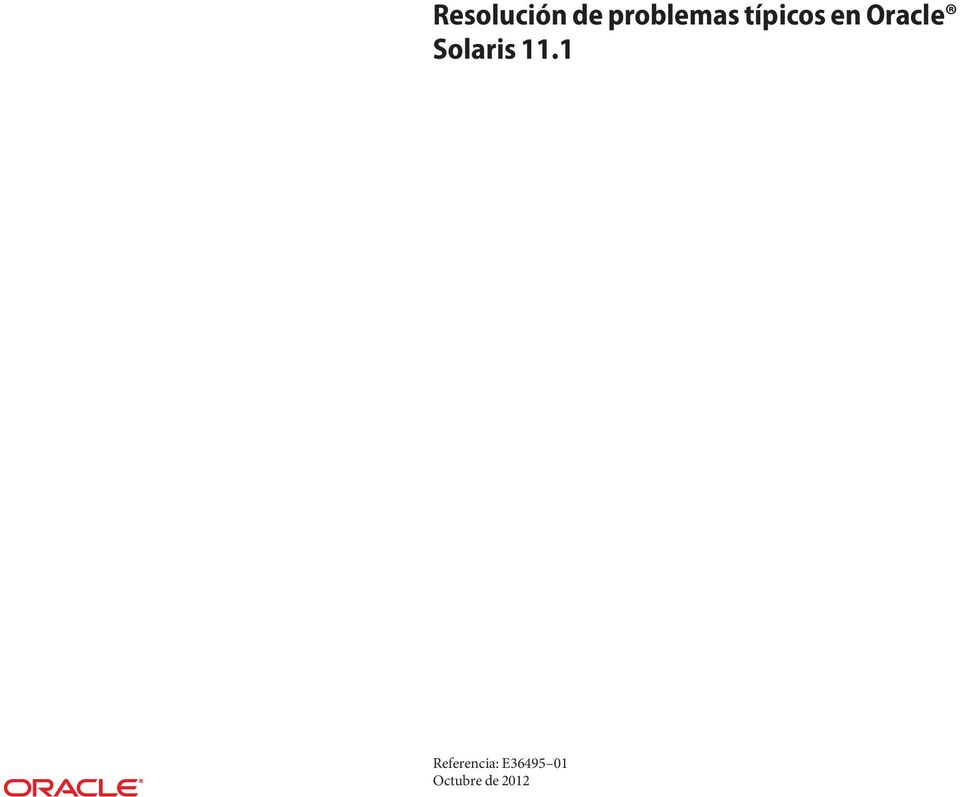 Oracle Solaris 11.