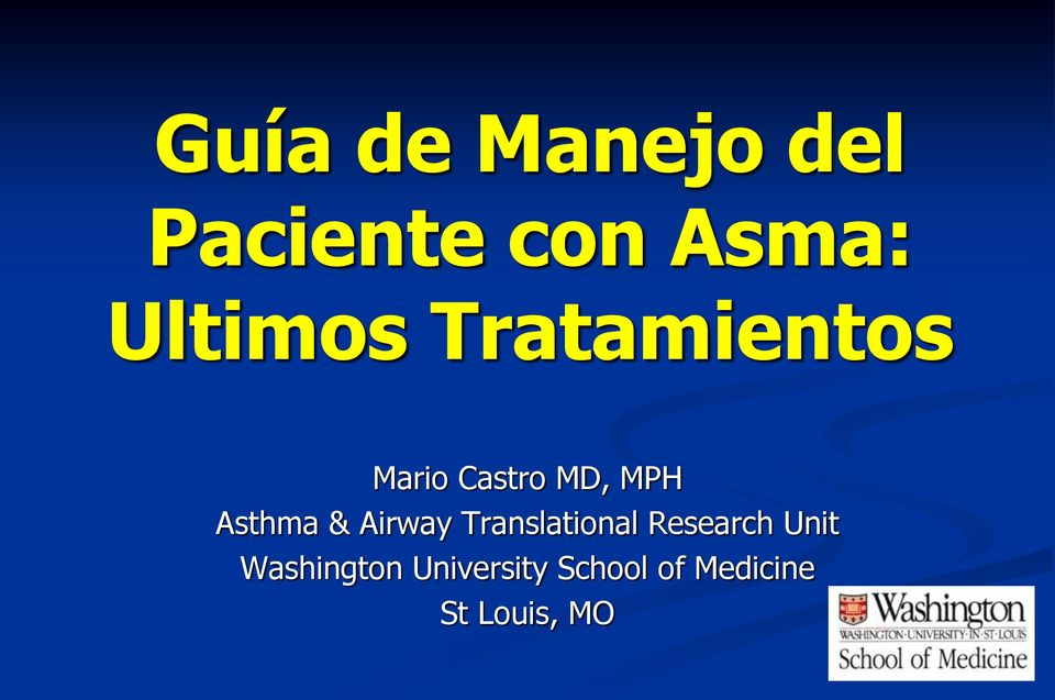 Asthma & Airway Translational Research Unit
