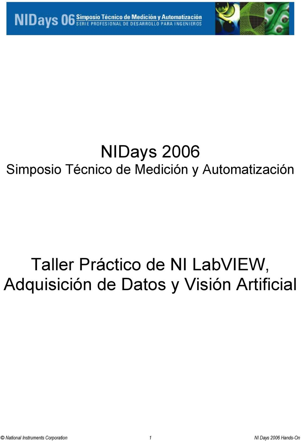 Adquisición de Datos y Visión Artificial