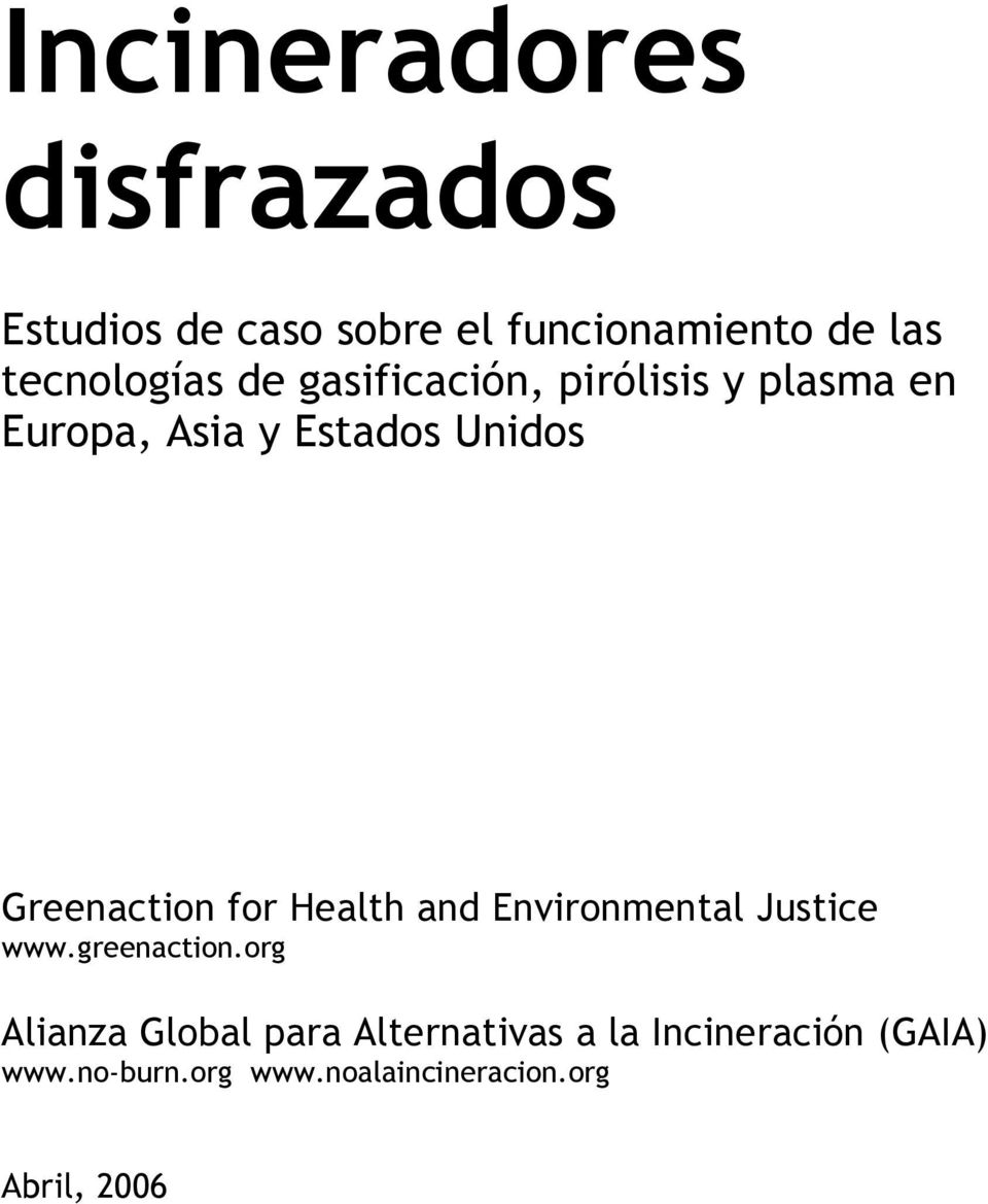 Greenaction for Health and Environmental Justice www.greenaction.