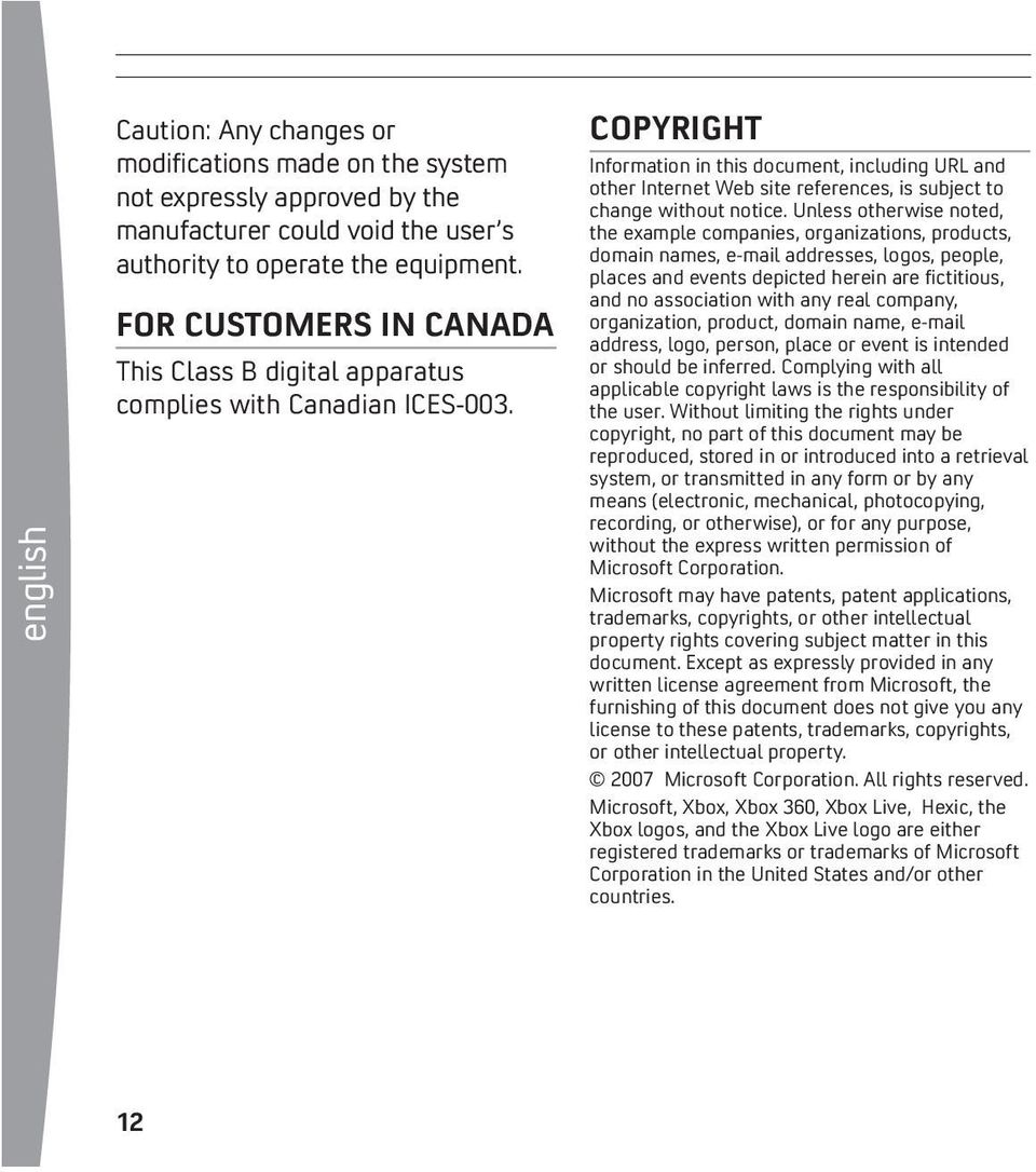 COPYRIGHT Information in this document, including URL and other Internet Web site references, is subject to change without notice.