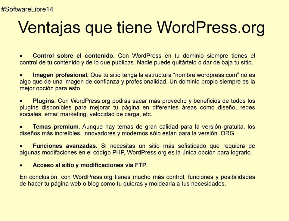 Con WordPress.