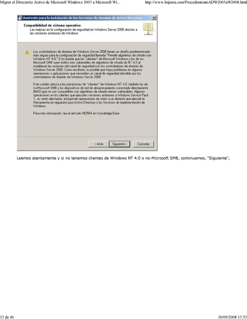 clientes de Windows NT 4.