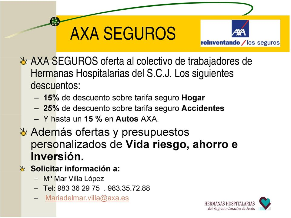 Accidentes Y hasta un 15 % en Autos AXA.