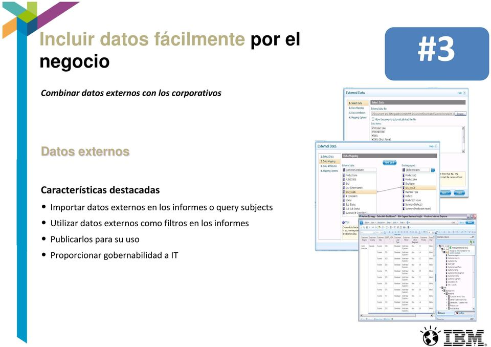 externos en los informes o query subjects Utilizar datos externos como