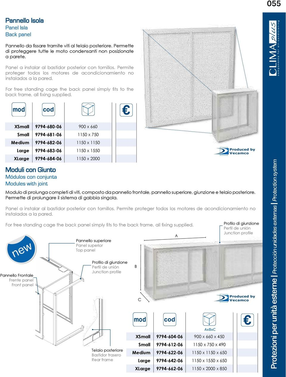 For free standing cage the back panel simply fits to the back frame, all fixing supplied.
