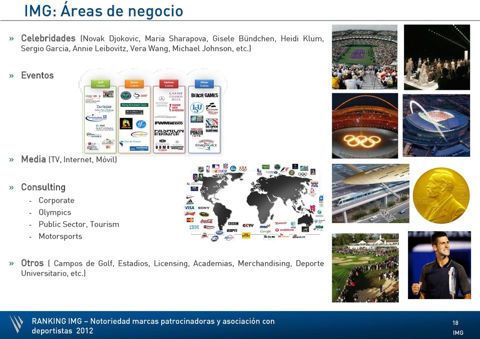 )» Eventos» Media (TV, Internet, Móvil)» Consulting - Corporate - Olympics - Public Sector, Tourism -