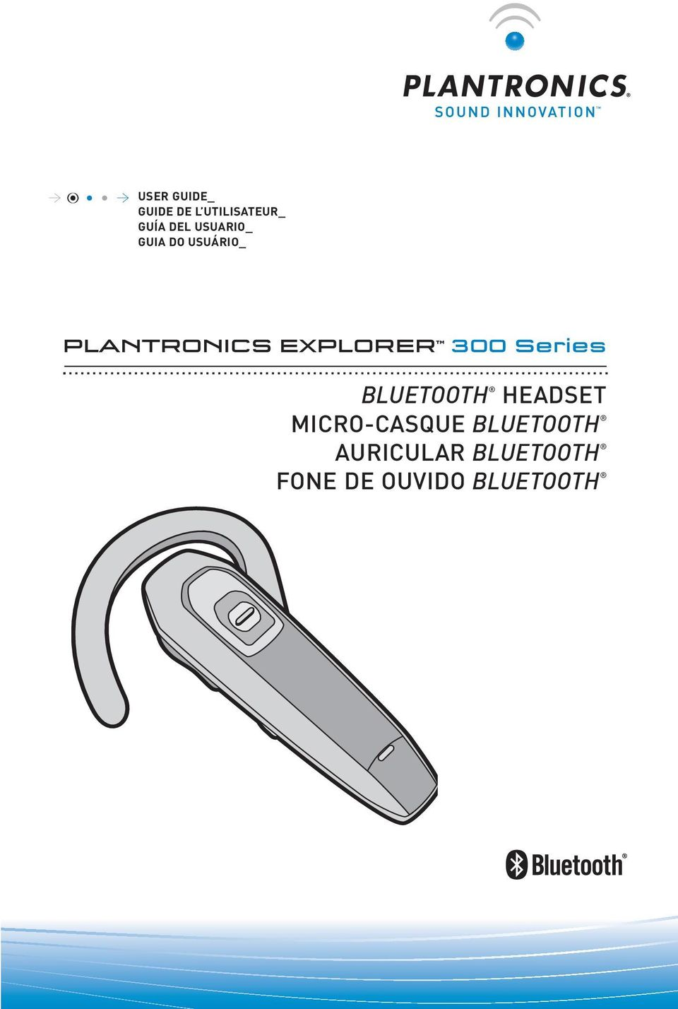 300 Series BLUETOOTH HEADSET MICRO-CASQUE
