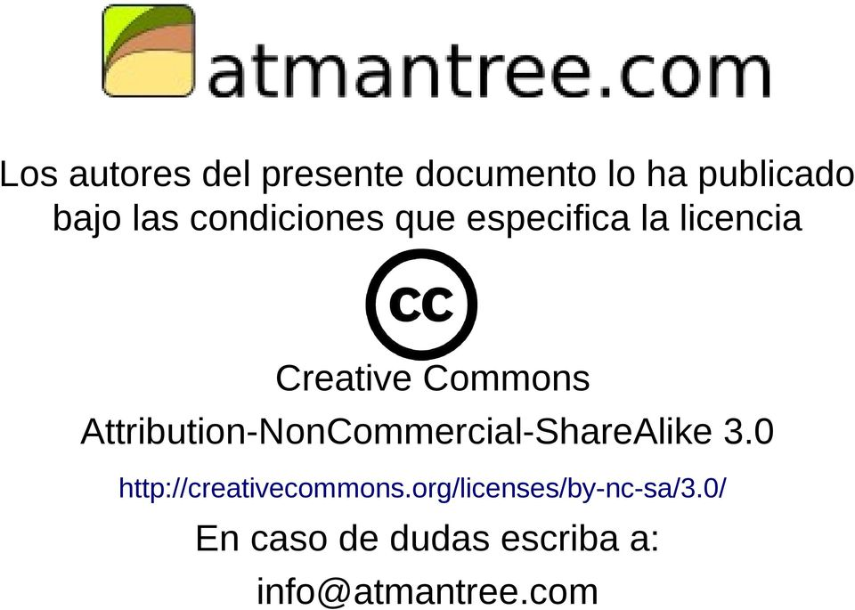 Attribution-NonCommercial-ShareAlike 3.0 http://creativecommons.