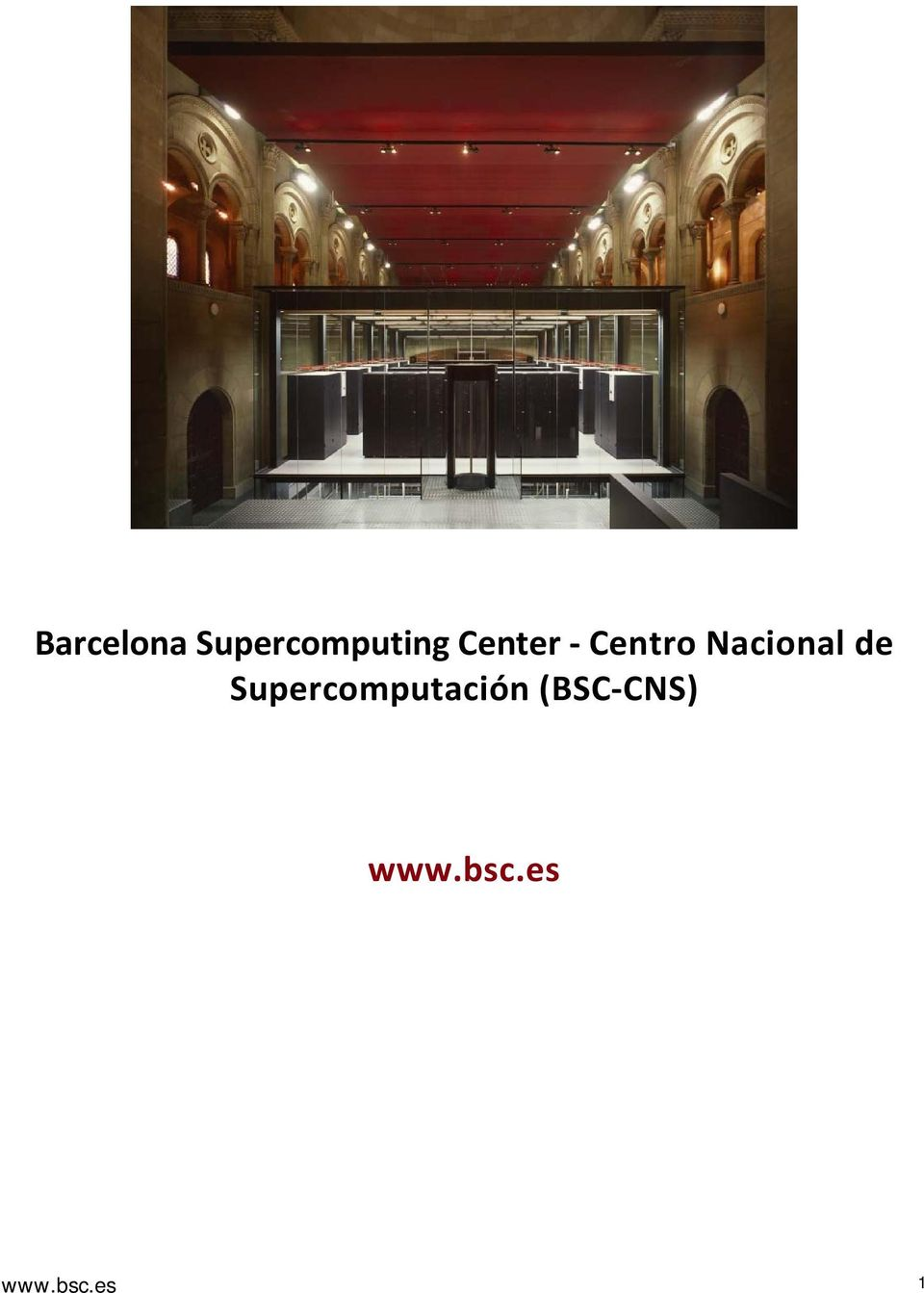Supercomputación (BSC