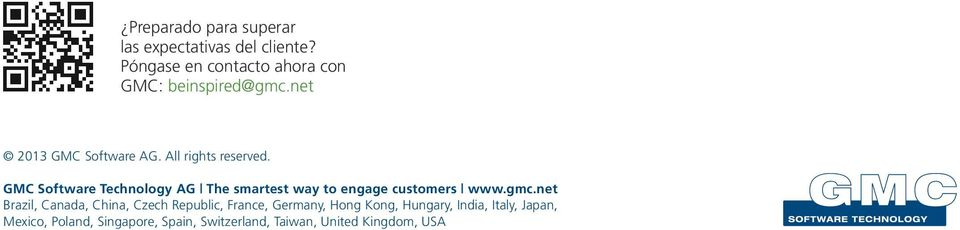 GMC Software Technology AG The smartest way to engage customers www.gmc.