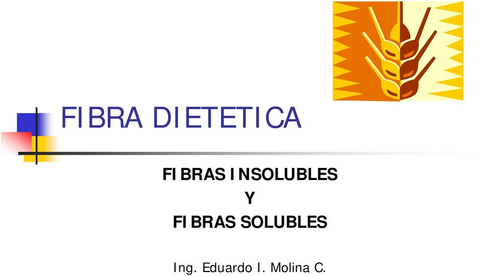 FIBRAS SOLUBLES Ing.