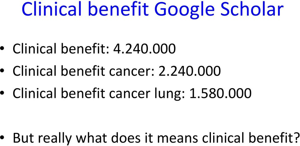 240.000 Clinical benefit cancer lung: 1.580.