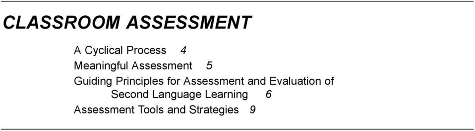 for Assessment and Evaluation of Second
