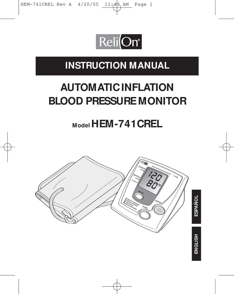 AUTOMATIC INFLATION BLOOD PRESSURE