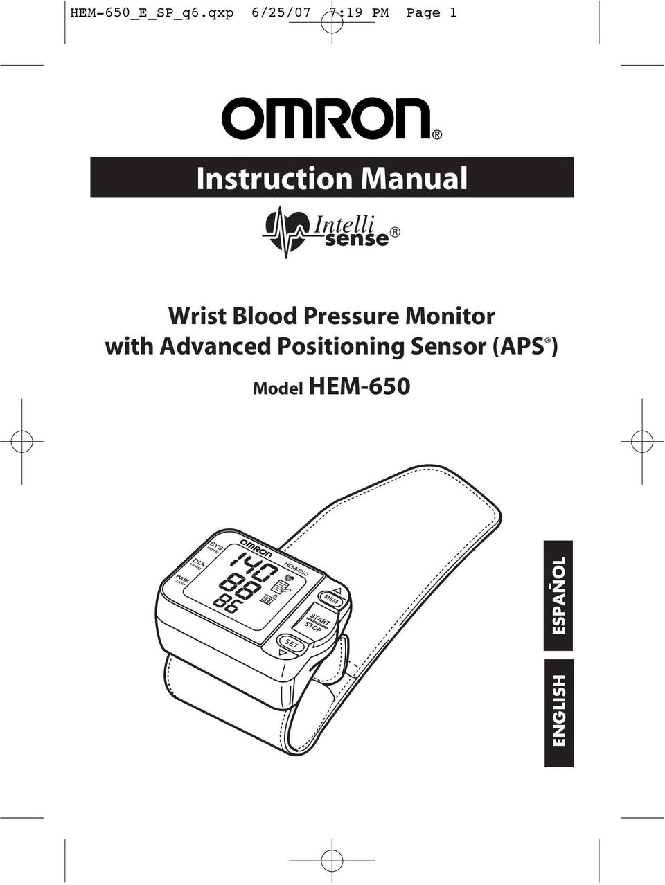 Manual Wrist Blood Pressure Monitor with