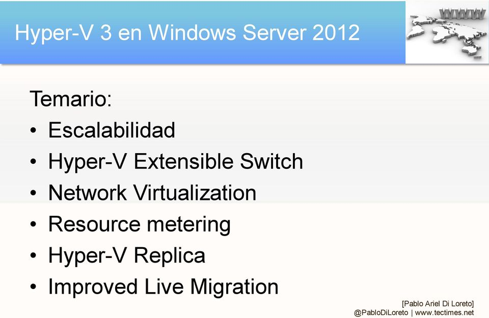 Extensible Switch Network Virtualization