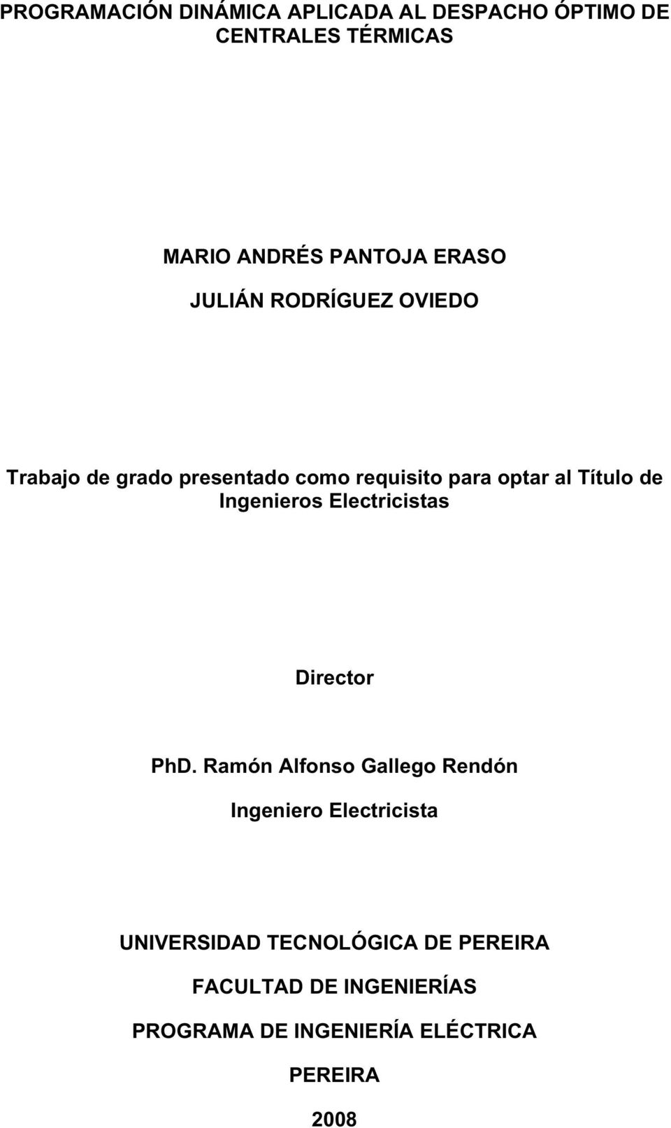 Ingenieros Electricistas Director PhD.
