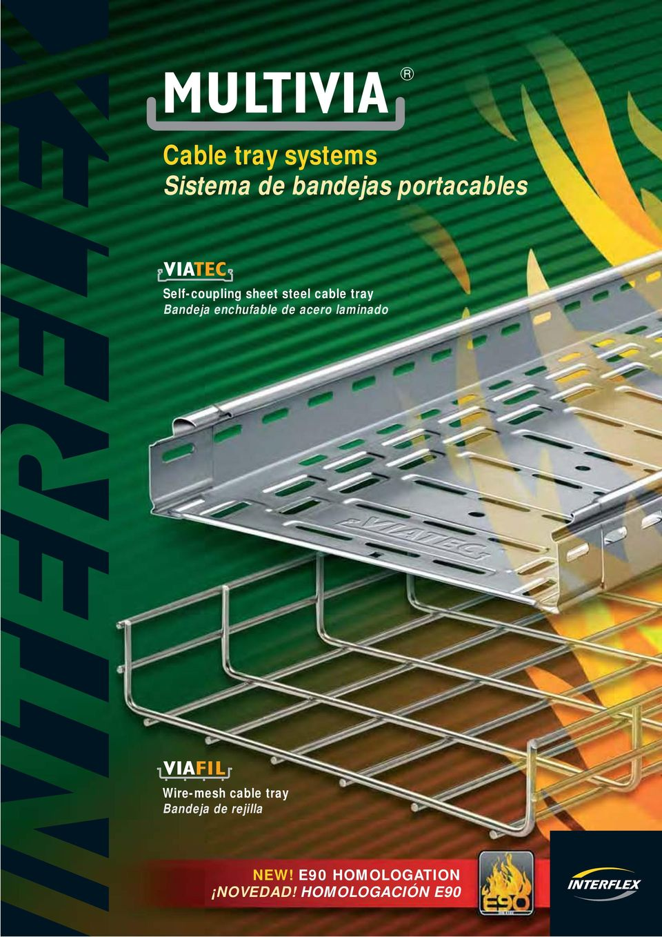 enchfable de acero laminado Wire-mesh cable tray