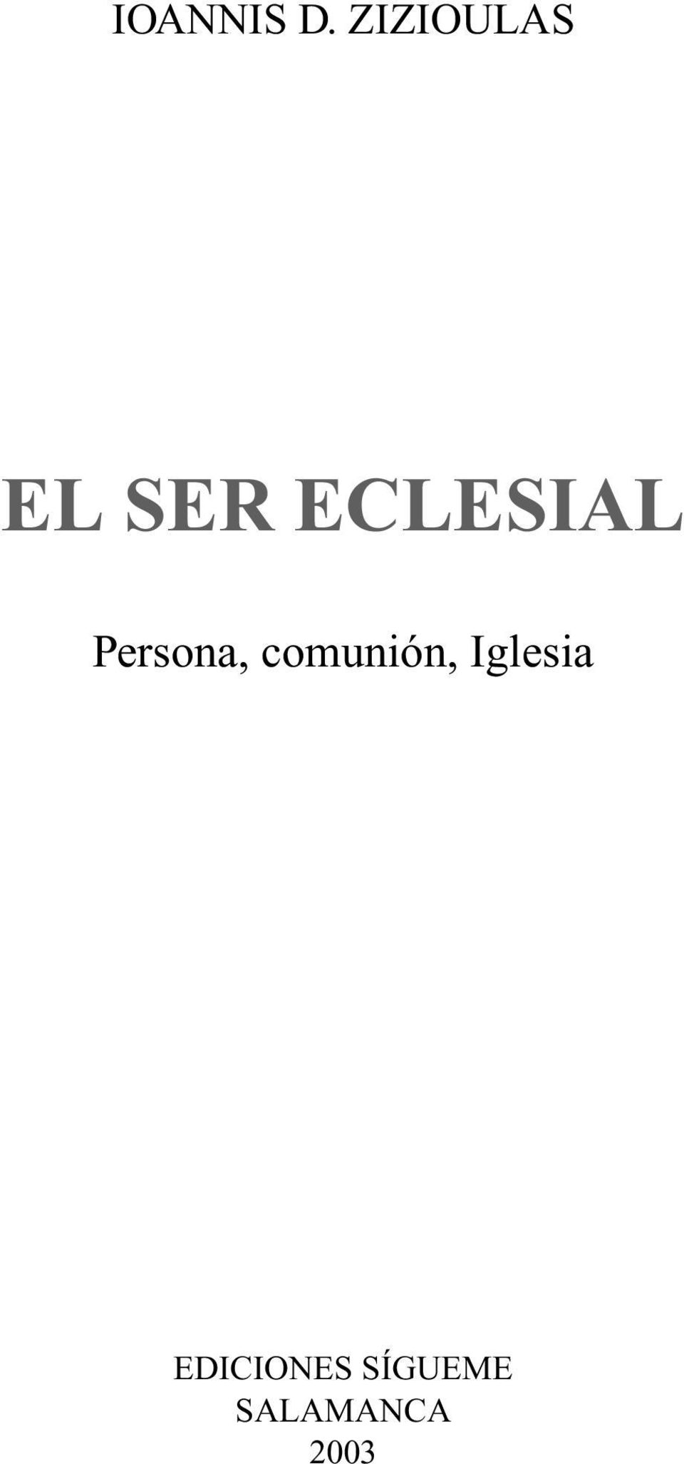 ECLESIAL Persona,