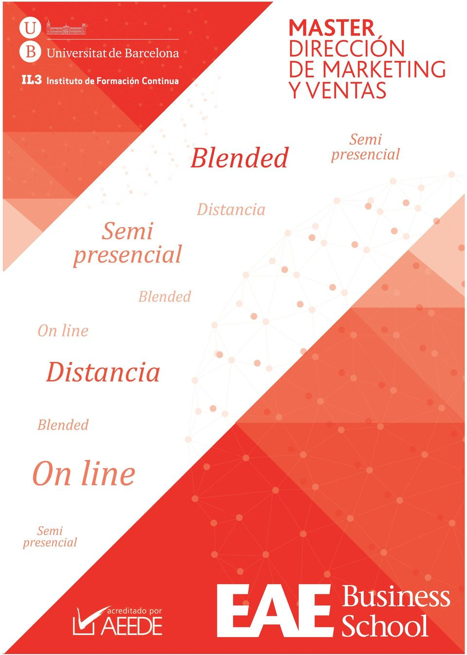 presencial Distancia Blended On line