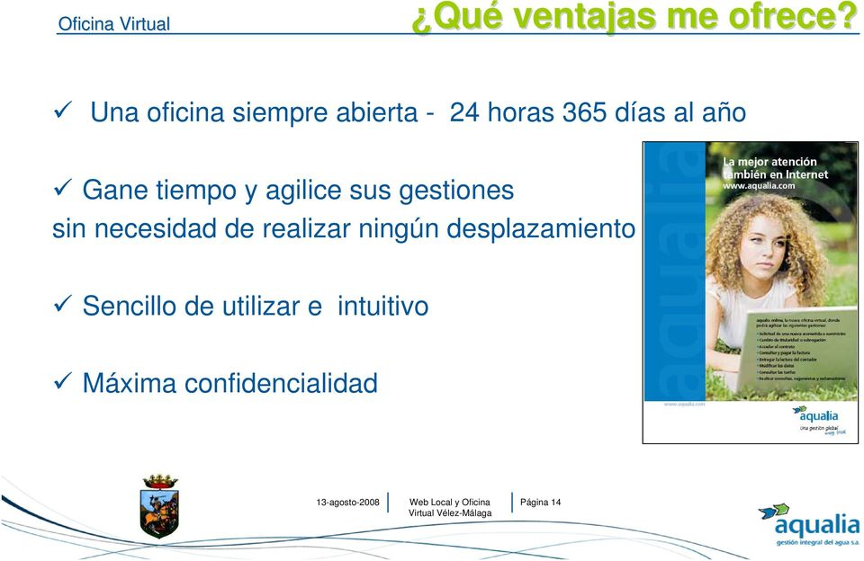Presentaci n web local y oficina virtual aqualia v lez for Catastro malaga oficina virtual