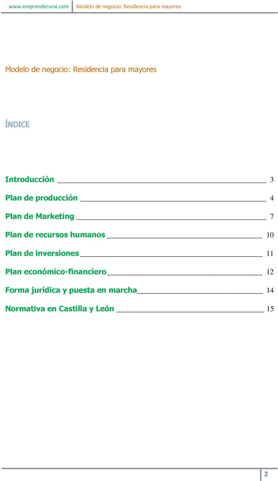 inversiones 11 Plan económico-financiero 12 Forma
