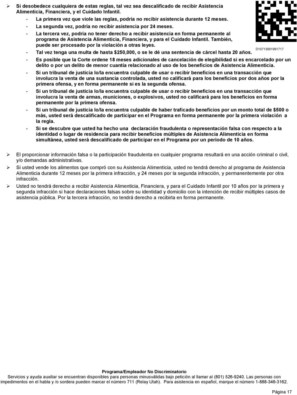 Estado de Utah Department of Workforce Services SOLICITUD PARA ...