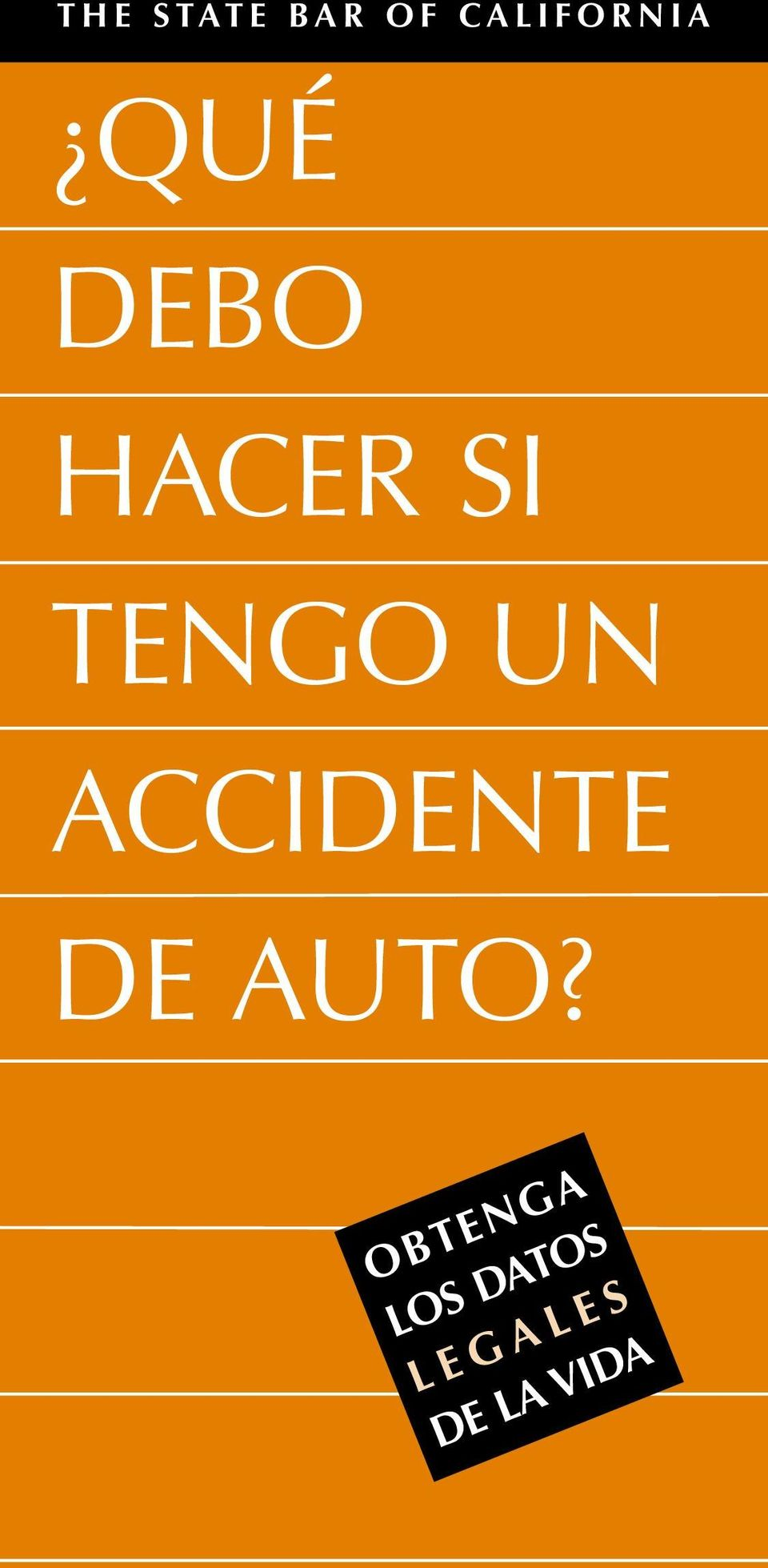 ACCIDENTE DE AUTO?