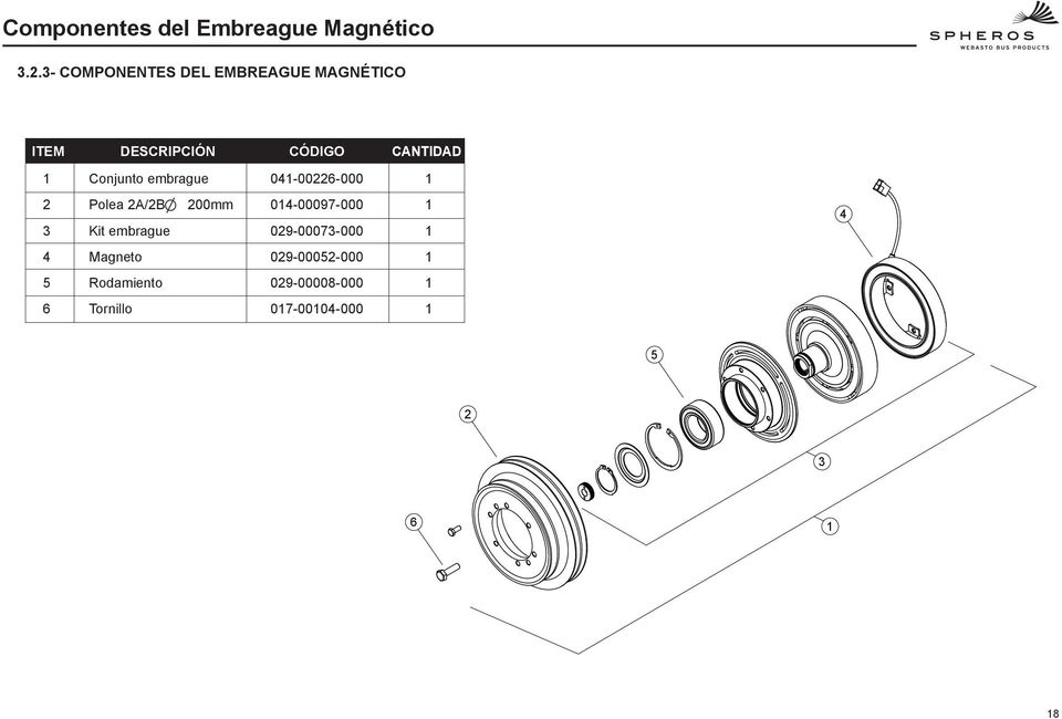Conjunto embrague 04-00226-000 2 3 Polea 2A/2B Kit embrague 200mm