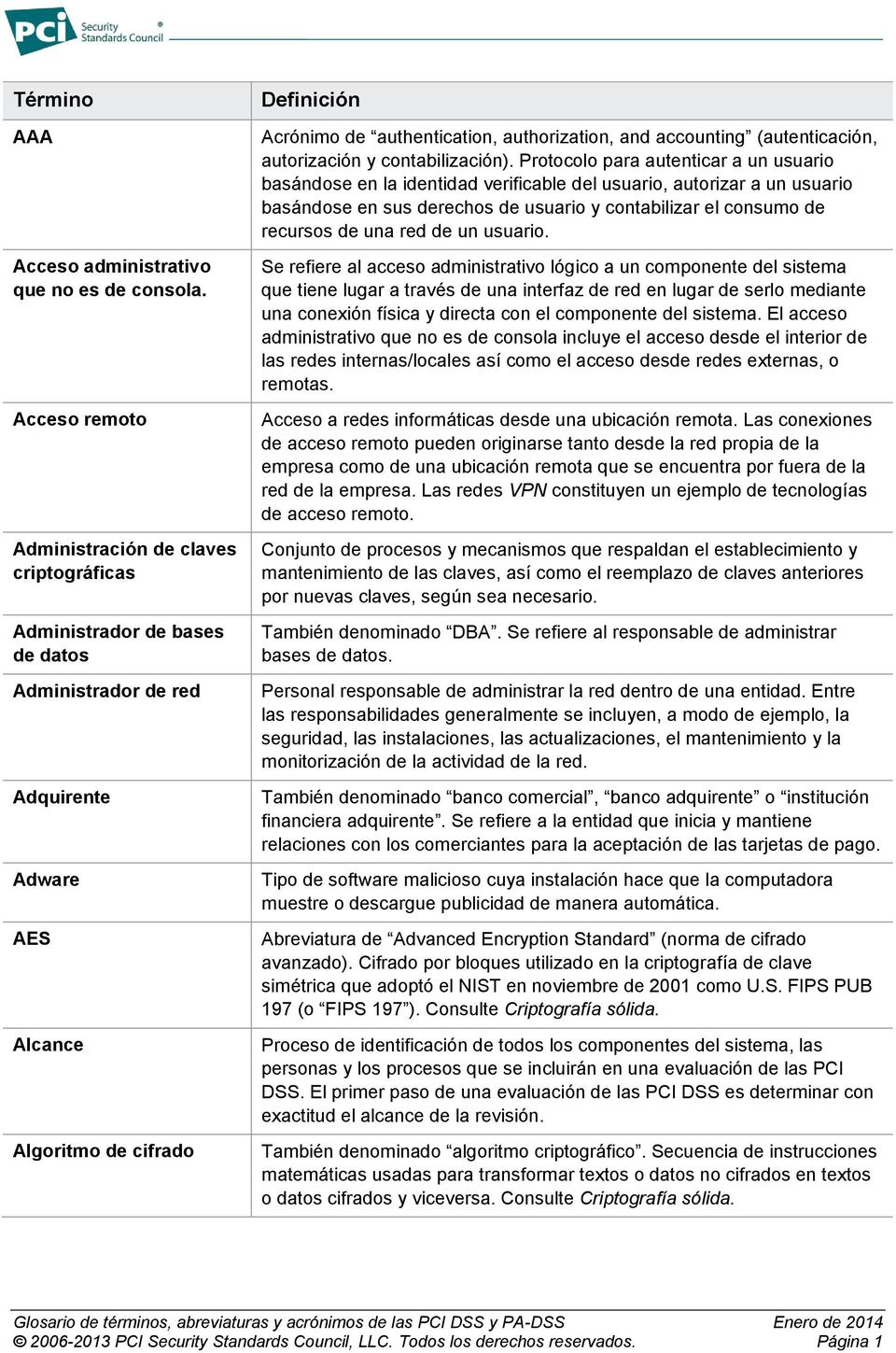 authorization, and accounting (autenticación, autorización y contabilización).