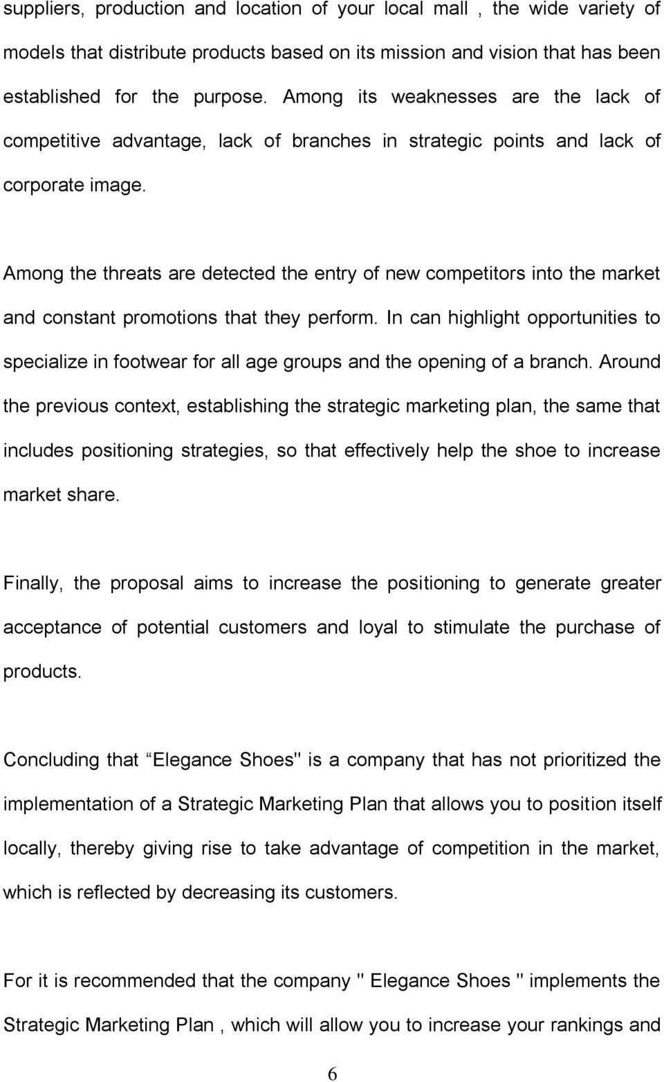 Among the threats are detected the entry of new competitors into the market and constant promotions that they perform.