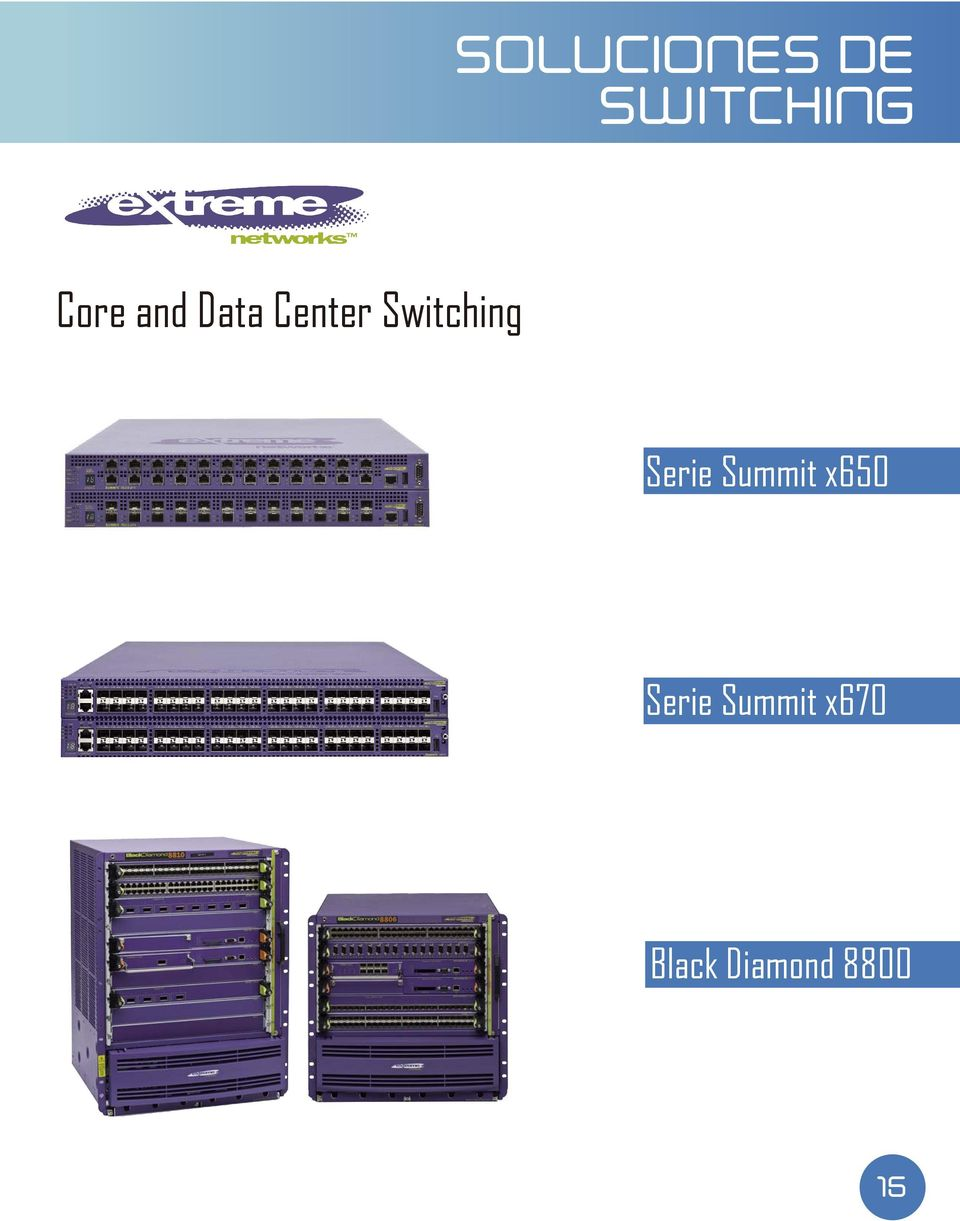 Switching Serie Summit x650