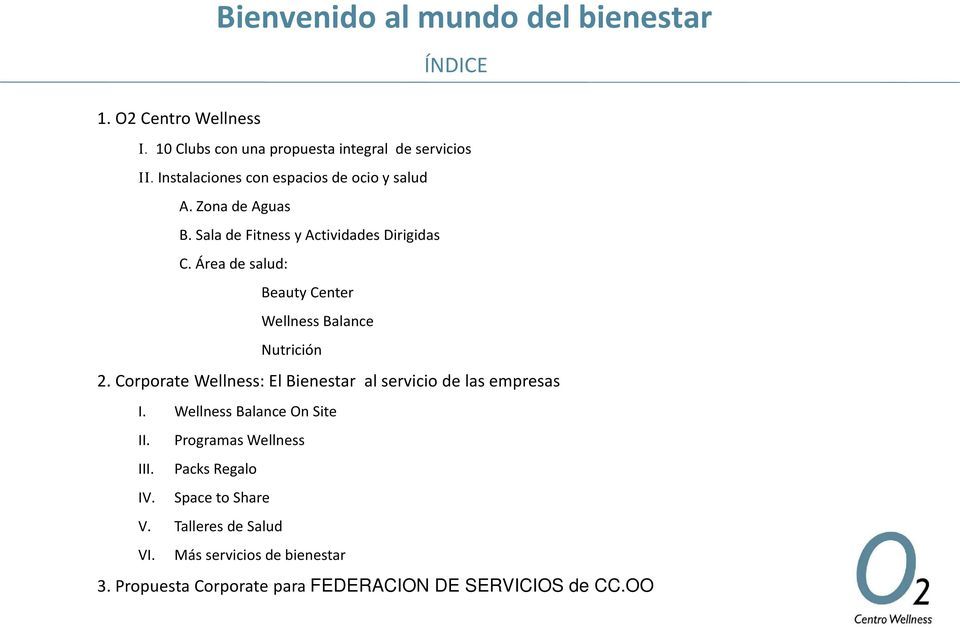 Áreadesalud: Beauty Center Wellness Balance Nutrición 2. Corporate Wellness: El Bienestar al servicio de las empresas I.