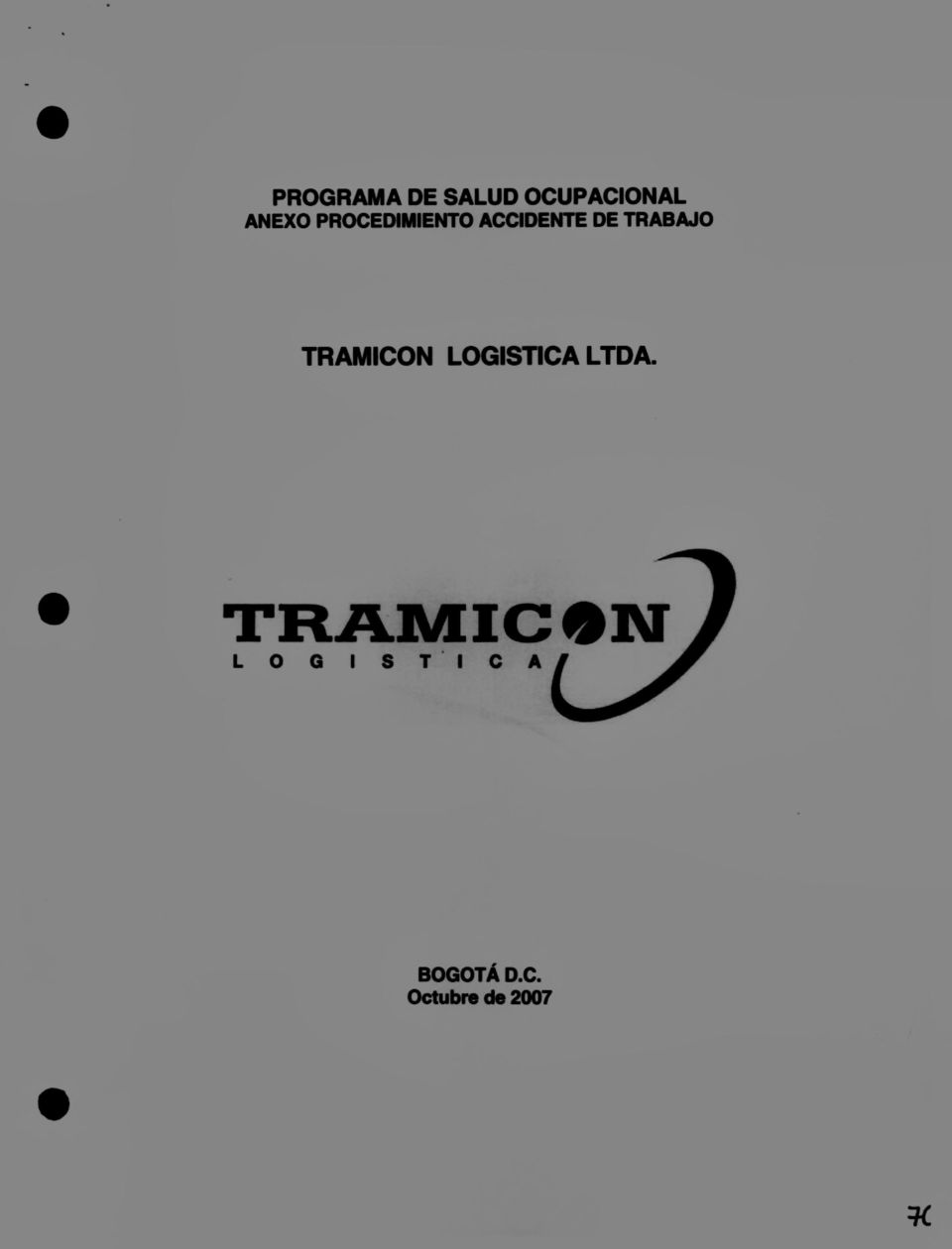 TRAMICON LOGISTICA LTOA. TRAMIC.