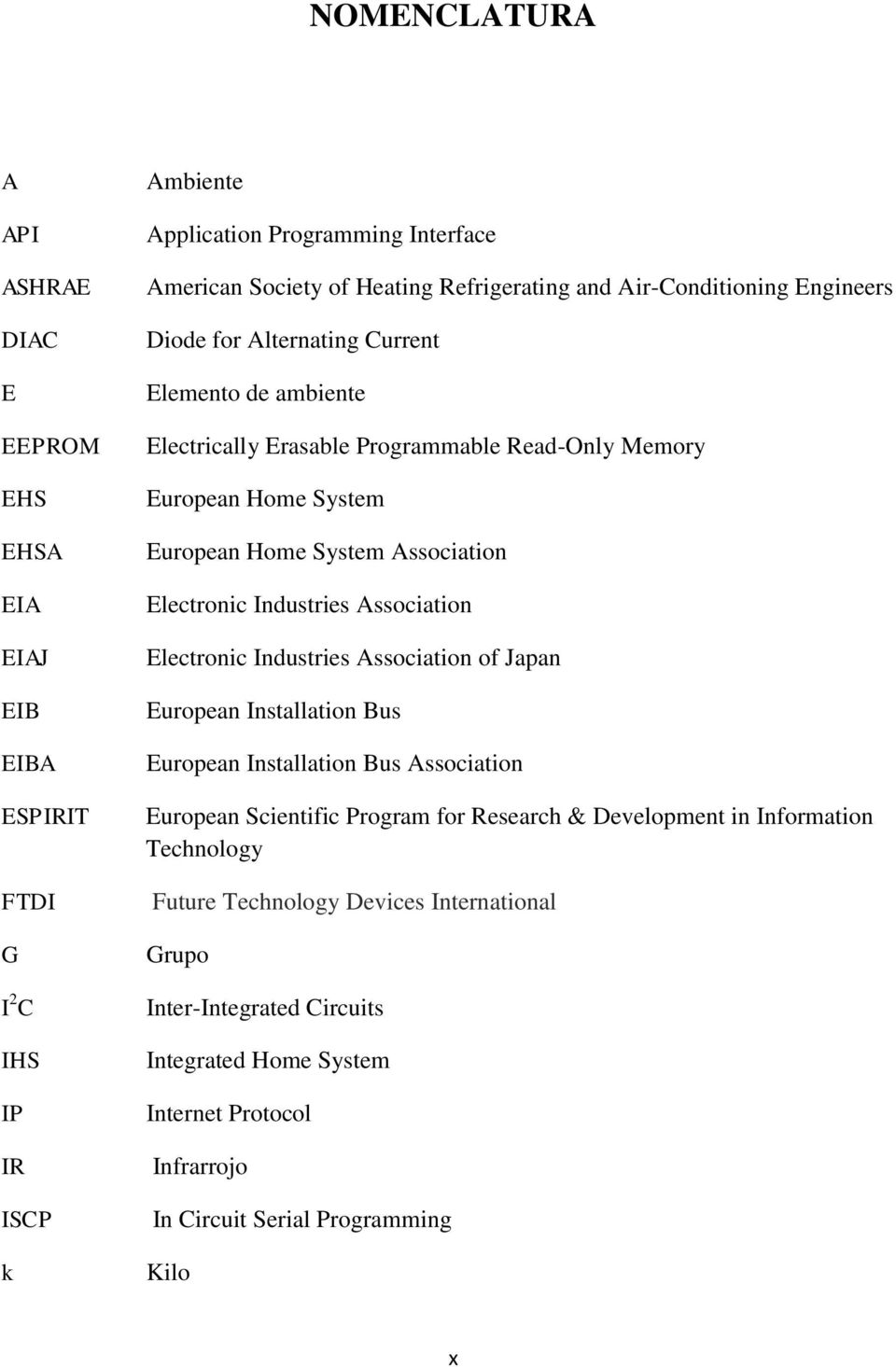 Electronic Industries Association Electronic Industries Association of Japan European Installation Bus European Installation Bus Association European Scientific Program for Research &