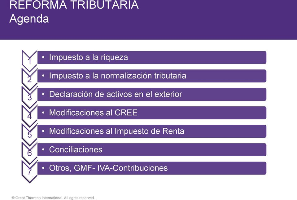 Actualidad Tributaria Maria Nelcy Cubides Grant Thornton International All Rights Reserved Pdf