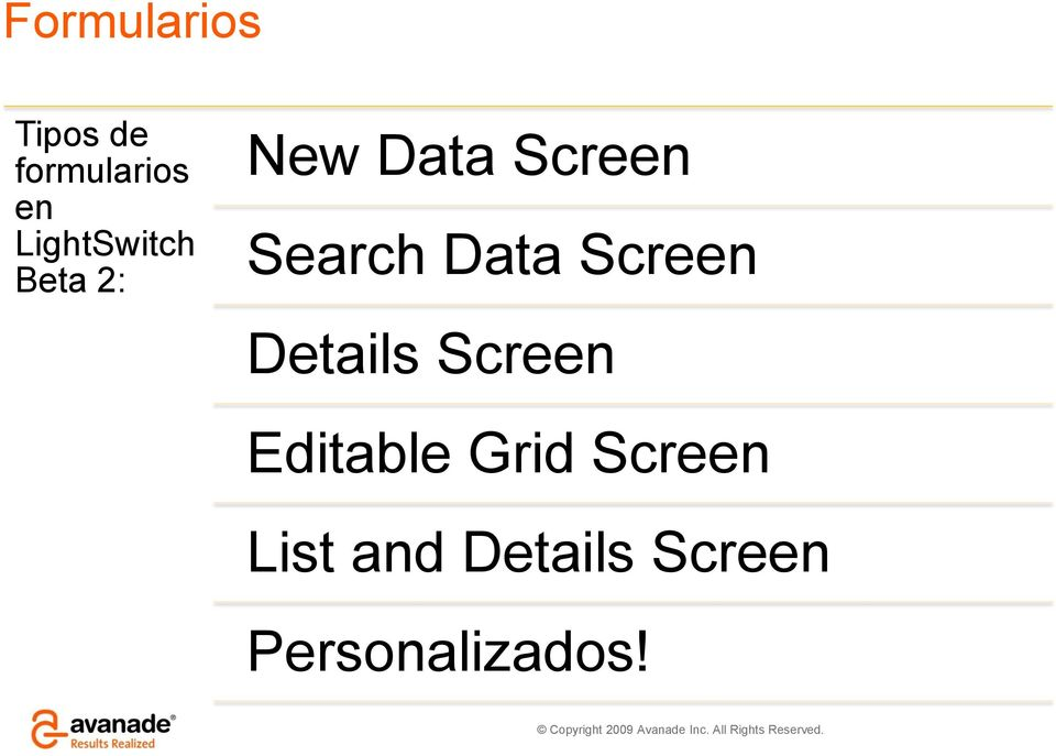 Search Data Screen Details Screen