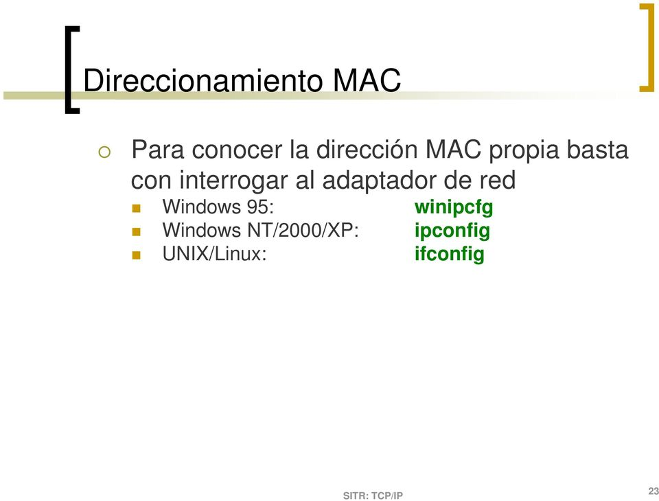 al adaptador de red Windows 95: winipcfg