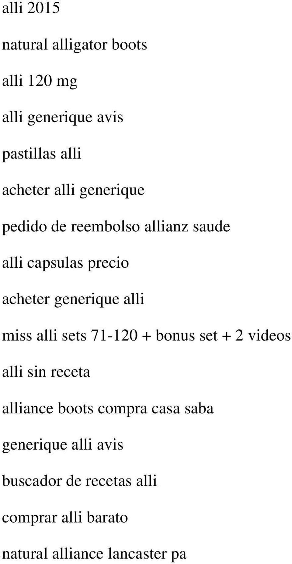 miss alli sets 71-120 + bonus set + 2 videos alli sin receta alliance boots compra casa saba