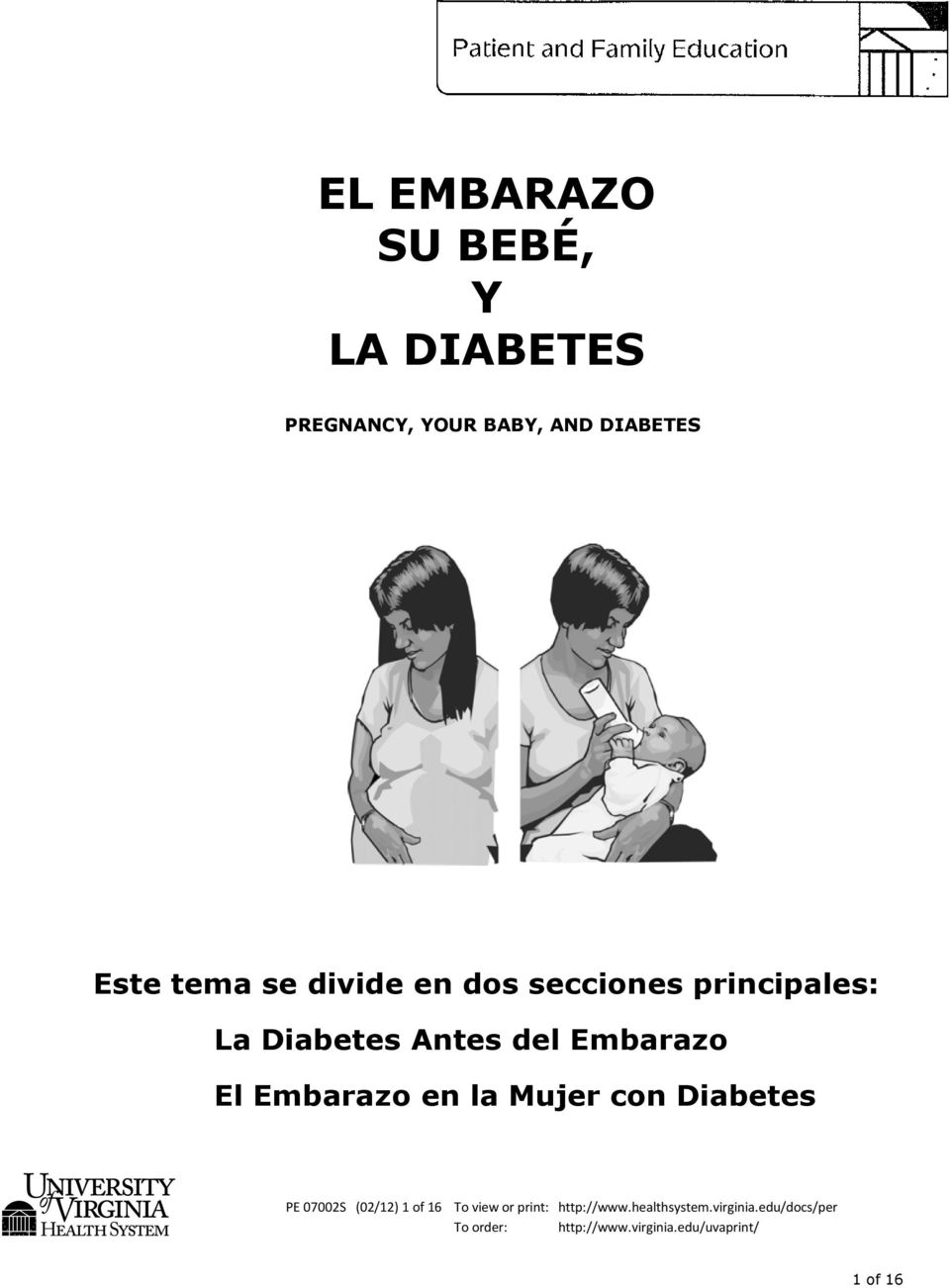 la Mujer con Diabetes PE 07002S (02/12) 1 of 16 To view or print: http://www.