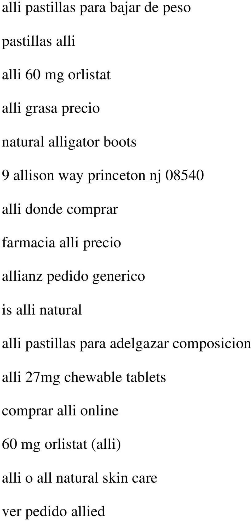 allianz pedido generico is alli natural alli pastillas para adelgazar composicion alli 27mg
