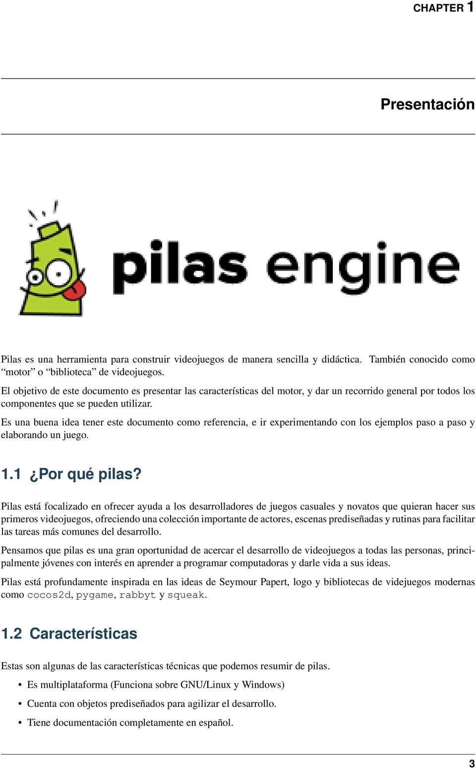 Pilas Engine Documentation - PDF