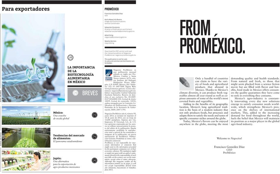 promexico.gob.mx This publication is not for sale. Its sale and commercial distribution are forbidden.