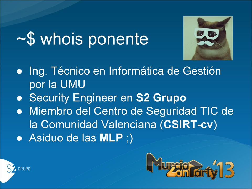 Security Engineer en S2 Grupo Miembro del