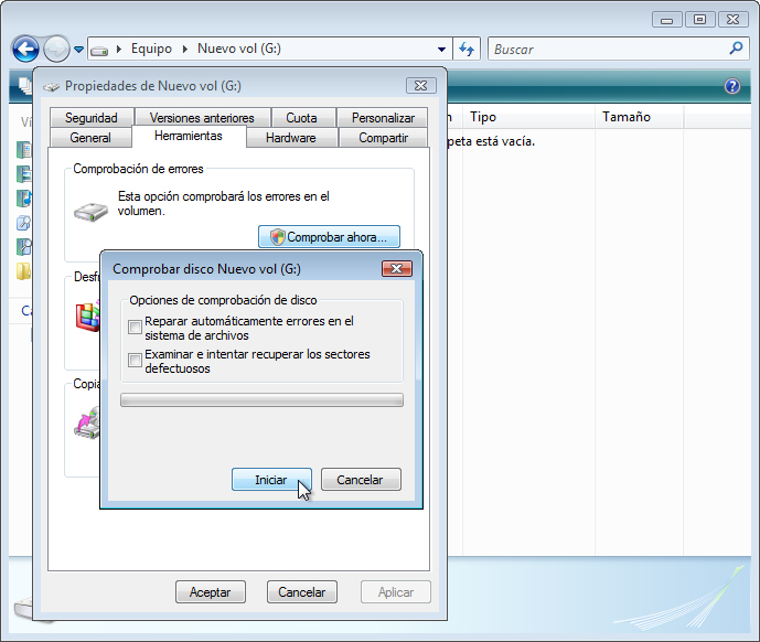 IT Essentials 5.0 5.3.4.3 Práctica de laboratorio: Mantenimiento del disco duro en Windows Vista Introducción Imprima y complete esta práctica de laboratorio.